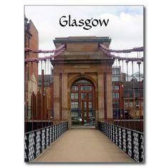 portland bridge scotland post card #glasgow