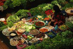 Indoor market in Khota Bharu, Malaysia by fishmonk