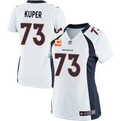 Chris Kuper Elite Nike C Patch Chris Kuper Elite Jersey at Broncos Shop. (Elite  Nike Women s Chris Kuper White C Patch Jersey) Denver Broncos Road NFL Easy  ... a1d9ac2f1