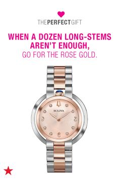 Looking for a Valentine's Day present? Search no further! Spread the love with something from Macy's. If she loves rose gold, this Bulova diamond-accented stainless steel bracelet watch is the perfect gift. Head to macys.com now to shop Valentine's Day gifts!