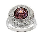 Judith Ripka Sterling Pink Diamonique Cocktail Ring — QVC.com