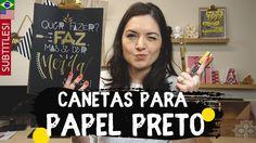 Canetas para desenhar no Papel Preto | by Aline Albino