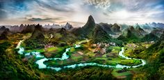 A fanastical place of exceptional beauty deep in the Guangxi Province of China.