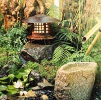 Water features and stone elements