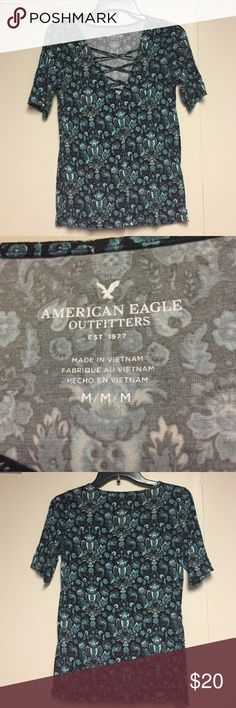 American eagle three quarter sleeve shirt American eagle three quarter sleeve shirt American Eagle Outfitters Tops