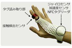 富士通研究所、ジェスチャで操作できるグローブ型のウェアラブルデバイスを開発