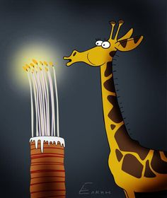Happy birthday Samson the giraffe! / Cartoons / RIA Novosti on imgfave Giraffe Happy Birthday, Happy Birthday 1, Birthday Posts, Happy Birthday Pictures, Happy Birthday Messages, Happy Birthday Greetings, Funny Birthday Cards, Hippie Birthday, Birthday Cartoon