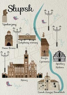 Przewodnik nieoczywisty - See U in Poland! Me On A Map, Family History, Poland, Taj Mahal, My Design, Infographic, Architecture, Live, Fun