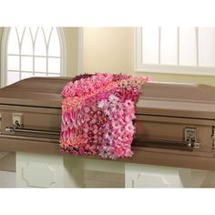 Casket Scarf made from pink flowers