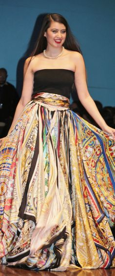 Marisol Deluna New York- Couture Silk Scarf  Skirt