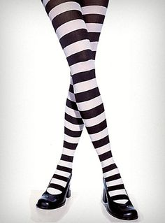 Black & White Stripe Tights $9.50  Must buy and wear in a Beetlejuice inspired outfit x3
