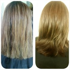 Before and after cut and color by Laura Lonero