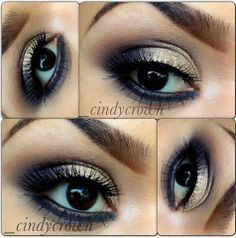 bellydance makeup | Gold smoky eye | Sparkly Belly Dance Related Make-up Goodies