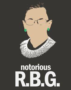 Notorious R.B.G. (Ruth Bader Ginsberg) (10.00 USD) by NerdlyDesign