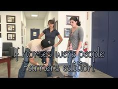 Our friends at SmartPak have done it again! And just in time for National Farrier Week! Remember to thank your farrier for all that they do! Presenting If Horses Were People - Farriers Edition - YouTube