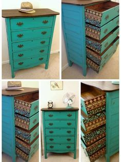 Möbel grün farbe restaurieren antike polstermöbel holz sideboard