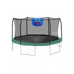 Trampoline Jump N' Dunk Skywalker 15 feet Safety Enclosure & Basketball Hoop  #Skywalker