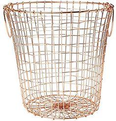 Waste Basket Copper Wire Mesh Round Basket: Amazon.co.uk: Kitchen & Home