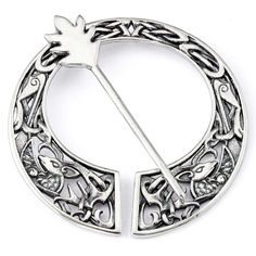 Keep your kilts on (this traditional brooch will help)... #Outlander S2 is nearly here!  Inspired by the enthralling prose of author @diana_gabaldon, the Fraser Stag Brooch.