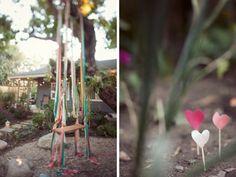 outdoor wedding swing