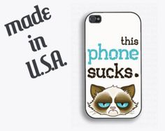 Cranky Cat Funny Iphone 5 Case - Similar to Tard the Grumpy Cat(TM) - Grumpy Cat Iphone Case, ipone5 case,.