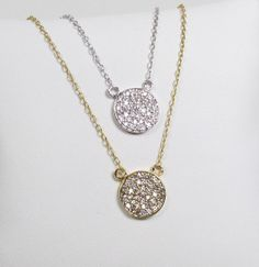 Hey, I found this really awesome Etsy listing at https://www.etsy.com/listing/130820727/cz-disc-necklace-cubic-zirconia-gold