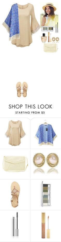 """""""Summer outfit TOMTOP"""" by eliza-redkina ❤ liked on Polyvore featuring Jack Rogers, Clinique, Iman, Marni and vintage"""
