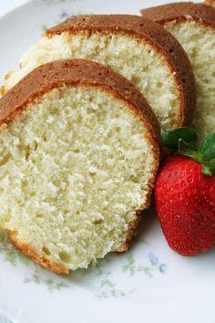 Lizzie's Sour Cream Pound Cake from At My Grandmother's Knee  ~  it is a very rich and very good–dense and moist like a classic pound cake should be.