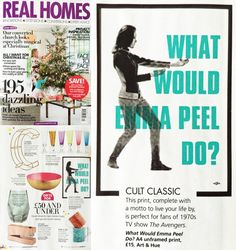 Art & Hue in @RealHomes - #PopArt - What Would #EmmaPeel Do?