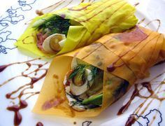 Quail Egg Roll Ups with Smoked Salmon, Avocado, Cream Cheese and Dill