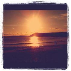 Sunset @ Manorbier beach, Pembrokeshire
