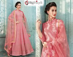 Pink Georgette Salwar Kameez with Embroidered , Stone Work. Place Your Order Online Anarkali Suits Online Shopping, Salwar Suits Online, Designer Anarkali, Stone Work, Salwar Kameez, Bollywood, Sari, Pink, Collection