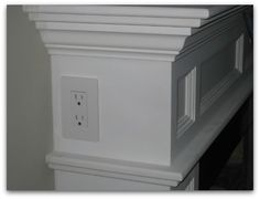 outlet in mantel for christmas lights or lamp