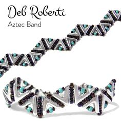 Aztec Band, free pattern that uses the new AVA beads