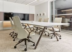 Coalesse Denizen Tables combined with the capa chair ...