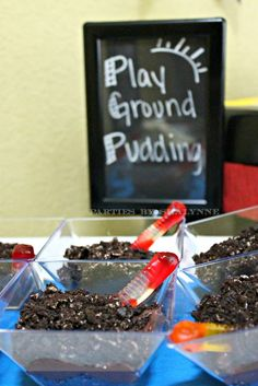 Playground Pudding. Cute name and fun, yummy dessert.