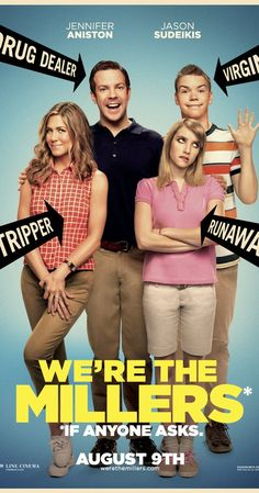 We're the Millers Directed by Rawson Marshall Thurber. With Jason Sudeikis, Jennifer Aniston, Emma Roberts, Ed Helms. A veteran pot dealer creates a fake family as part of his plan to move a huge shipment of weed into the U. from Mexico. Friends Cast, Friends Episodes, Friends Moments, Friends Tv Show, Friends Series, Funny Movies, Comedy Movies, Great Movies, Funniest Movies