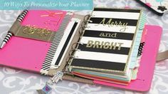 10 Ways to Personalize Your Planner