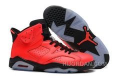 "a178bf571662 Air Jordan 6 Retro Womens ""Infrared 23″ Red-Black Cheap Sale HRRtQ"