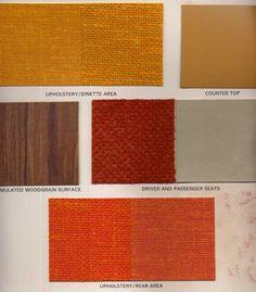 Painted interior trim of the desert Camper Interior, Interior Trim, Interior Paint, Gmc Motorhome, Camper Caravan, House On Wheels, Deserts, Upholstery, Painted Desert