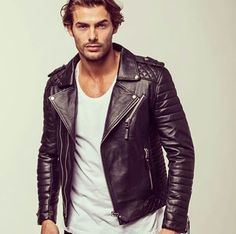 #Black #Fashion #Menswear #Leather #Jacket #Biker Find similar pins at https://www.pinterest.com/damee1/