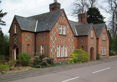 Victorian house with brick pattern