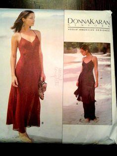 VTG 90s Pattern Vogue 1355 DKNY Donna Karan Bias Cut Dress SZ 6-10, Bust 30-32 | Collectibles, Sewing (1930-Now), Patterns | eBay!