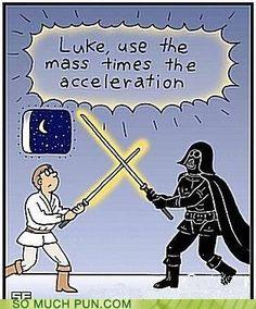Hahahaha Science jokes mixed with Star Wars