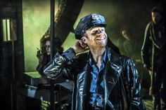 #Urinetown the Musical at #London's St. James Theatre.   Jonathan Slinger (Officer Lockstock). Photo: Johan Persson ♡ www.LOVEtheatre.com/tickets/3587/URINETOWN-The-Musical?sid=PIN
