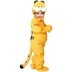 Let your little one go as their favorite fat cat Garfield. This is a adorable costume he can go with his pal Odie. Check out the Odie Costume above. Get Garfield here!