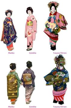 How can I tell an Oiran and Tayuu apart from Maiko and Geisha? There should never be any mistaking between an Oiran or Tayuu with a Geisha or Maiko! The differences are very pronounced and. Japanese Costume, Japanese Kimono, Japanese Girl, Japanese Outfits, Japanese Fashion, Asian Fashion, Costume Japonais, Susanoo Naruto, Geisha Art