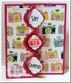 Smile! created by Frances Byrne using Camera2Love – The Stamps of Life and Sizzix Playful Triple Flip-its Card Framelits