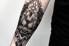 tatouage swag avant-bras-lion
