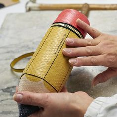 """""""The art of #craftsmanship: creating the #SS15 #Pencil #clutch #AnyaHindmarch"""""""